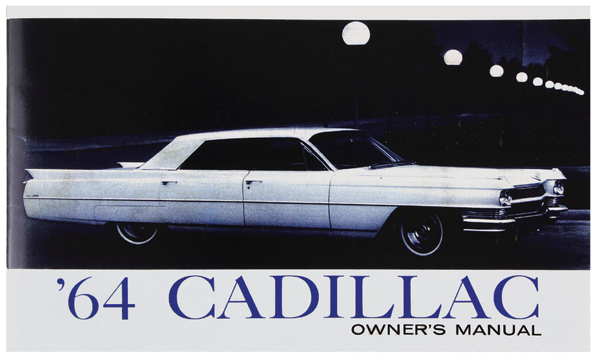 Owners Manual, Authentic, 1964 Cadillac