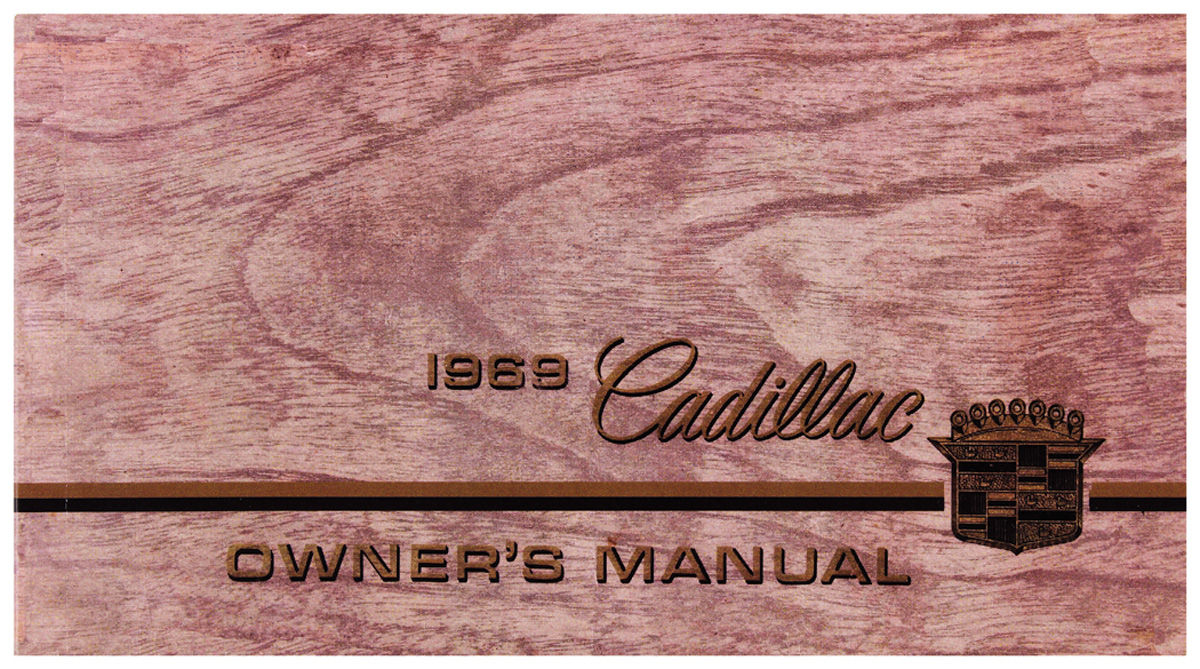 Owners Manual, Authentic, 1969 Cadillac