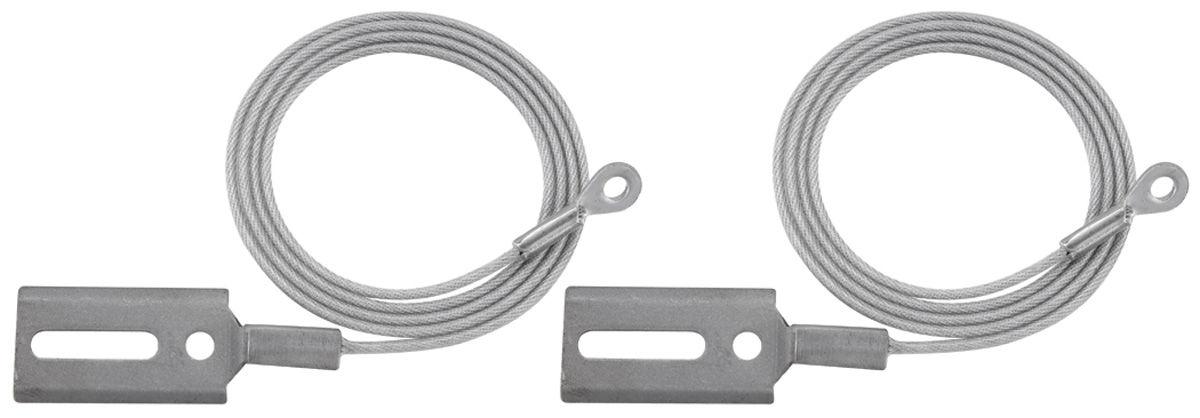 Tension Cables, Convertible Top, 1961-64 Bonneville/Catalina, Pair