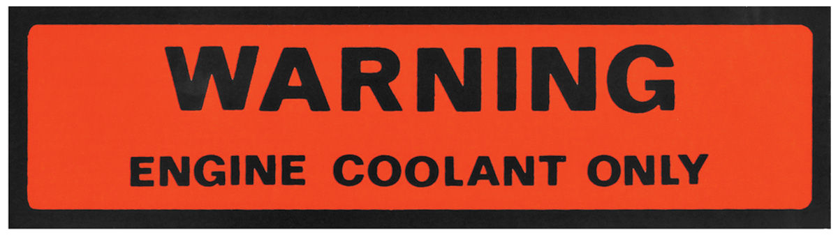 Decal, 74-77 Pontiac, Engine Coolant