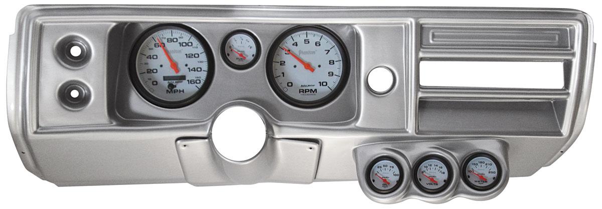 Gauge Conversion, Classic Dash, 68 Chevelle/El Camino, Std, Phantom