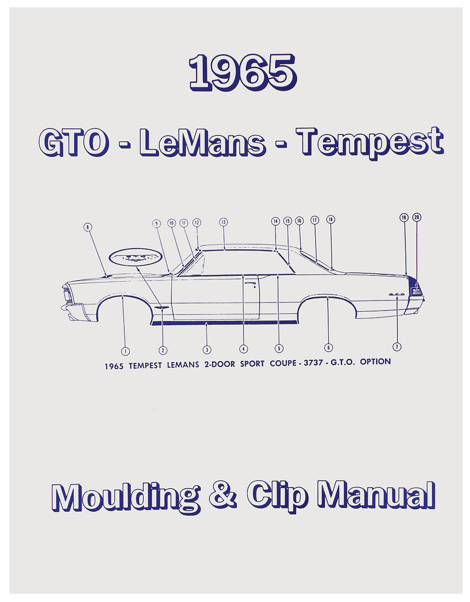Manual, Molding And Clips, 1965 Pontiac A-Body