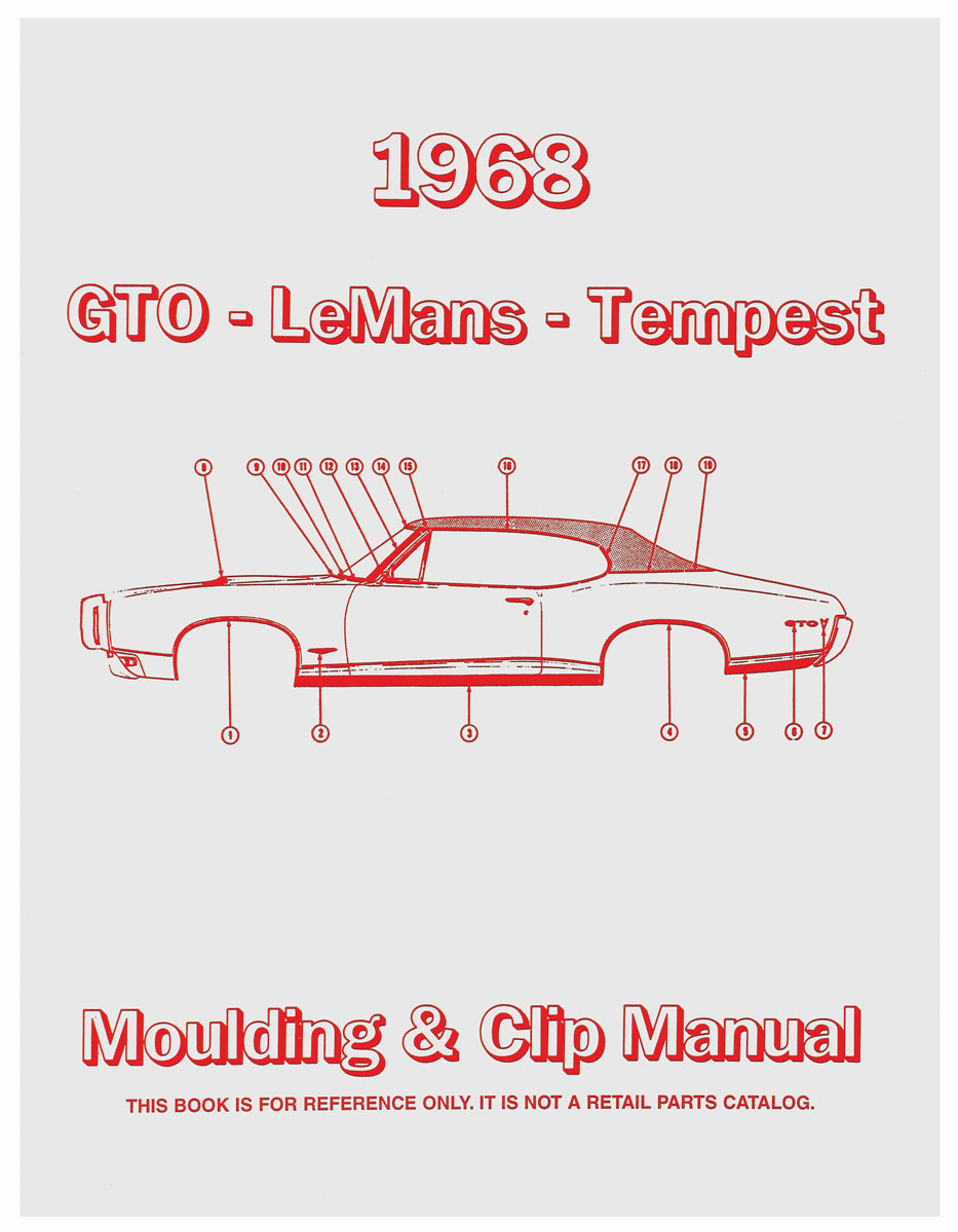 Manual, Molding And Clips, 1968 Pontiac A-Body