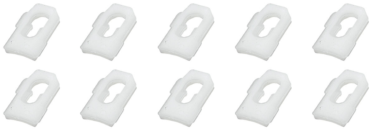 "Clip, Molding, Universal, 1/2"" Plastic, Set of 10"