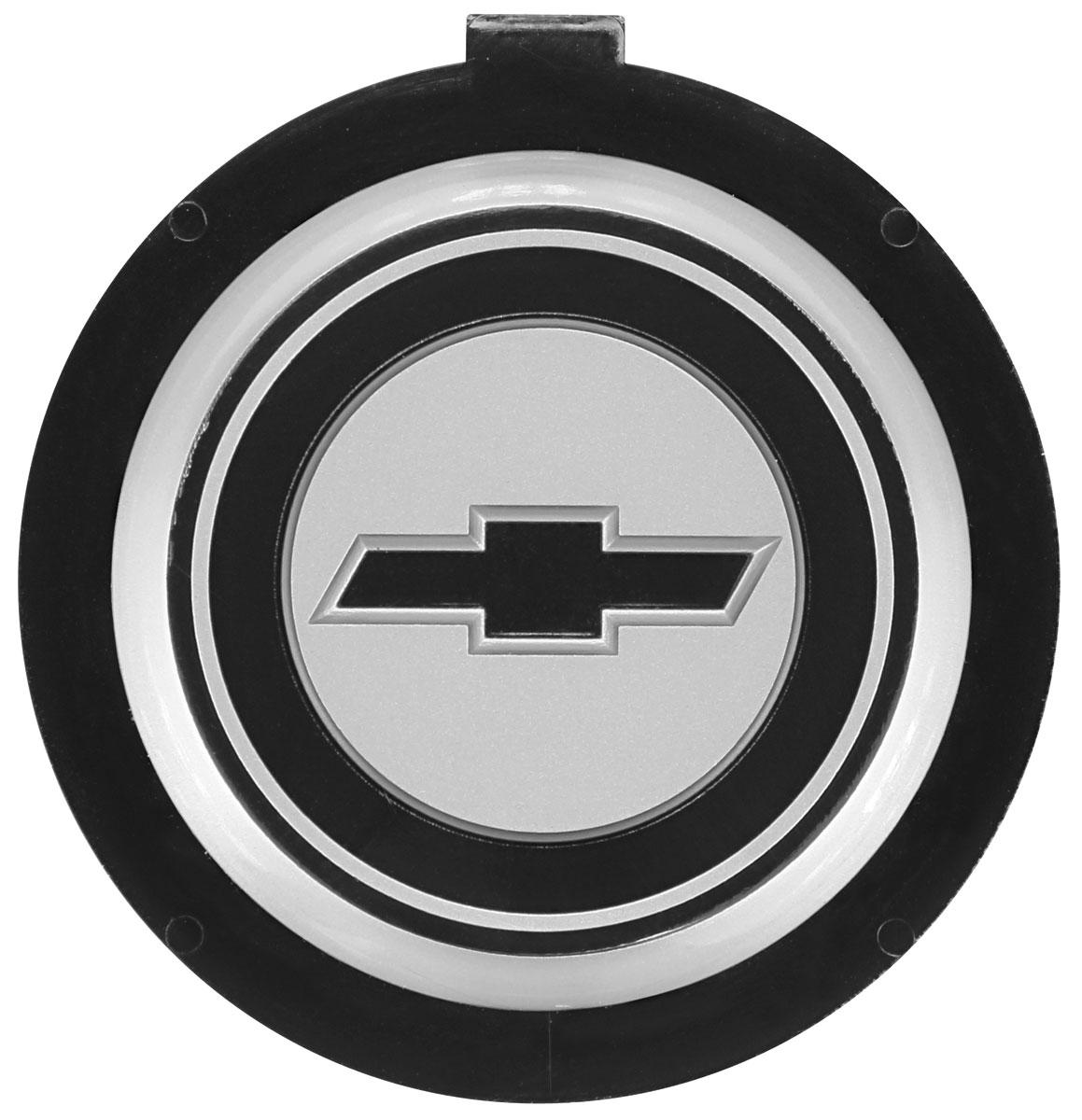 Emblem, Horn Button, Sport Steering Wheel, 1971-77 CH/EC/MC, White