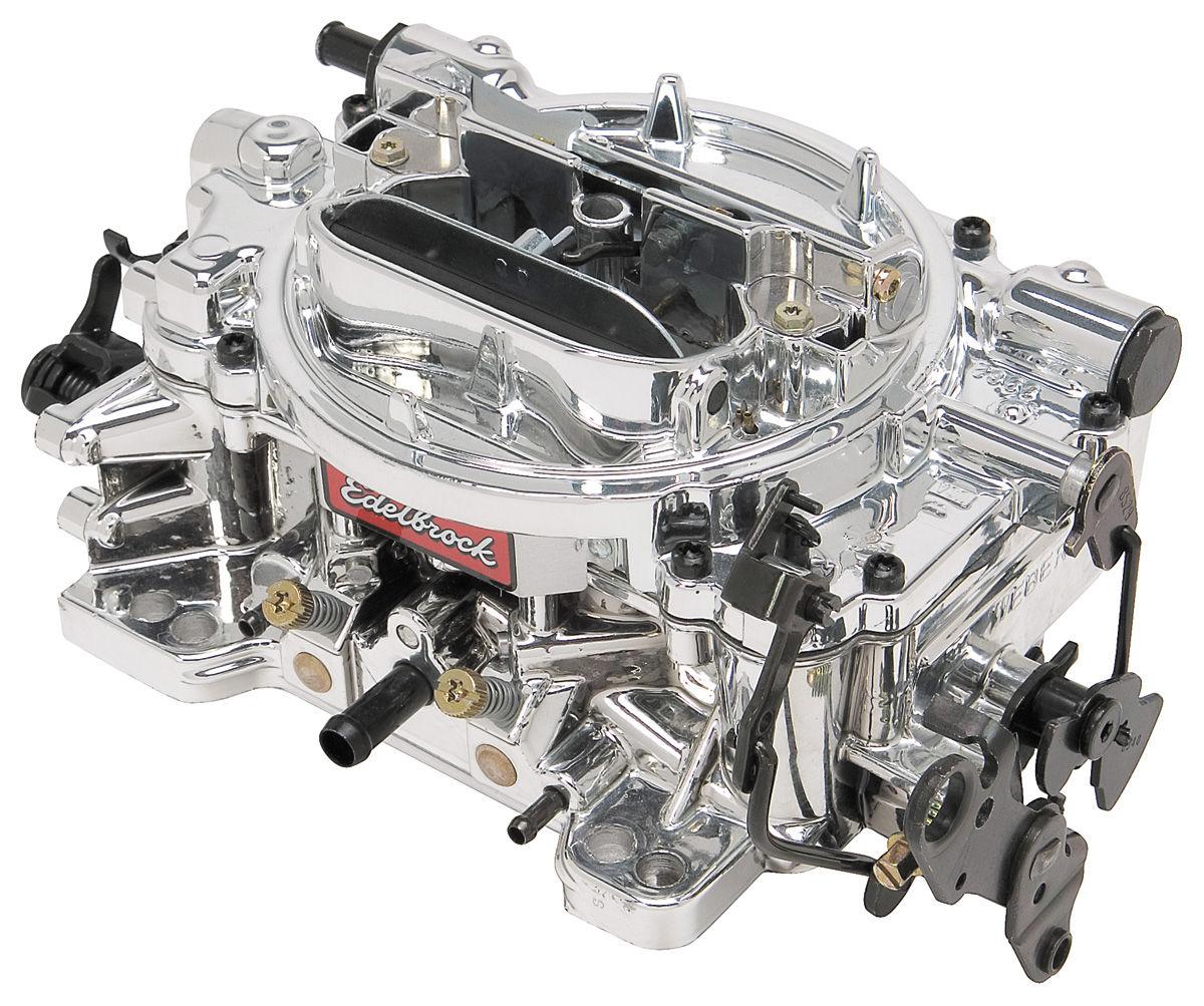 Carburetor, Edelbrock, Thunder AVS Series, 650 CFM, Manual Choke, Endurashine
