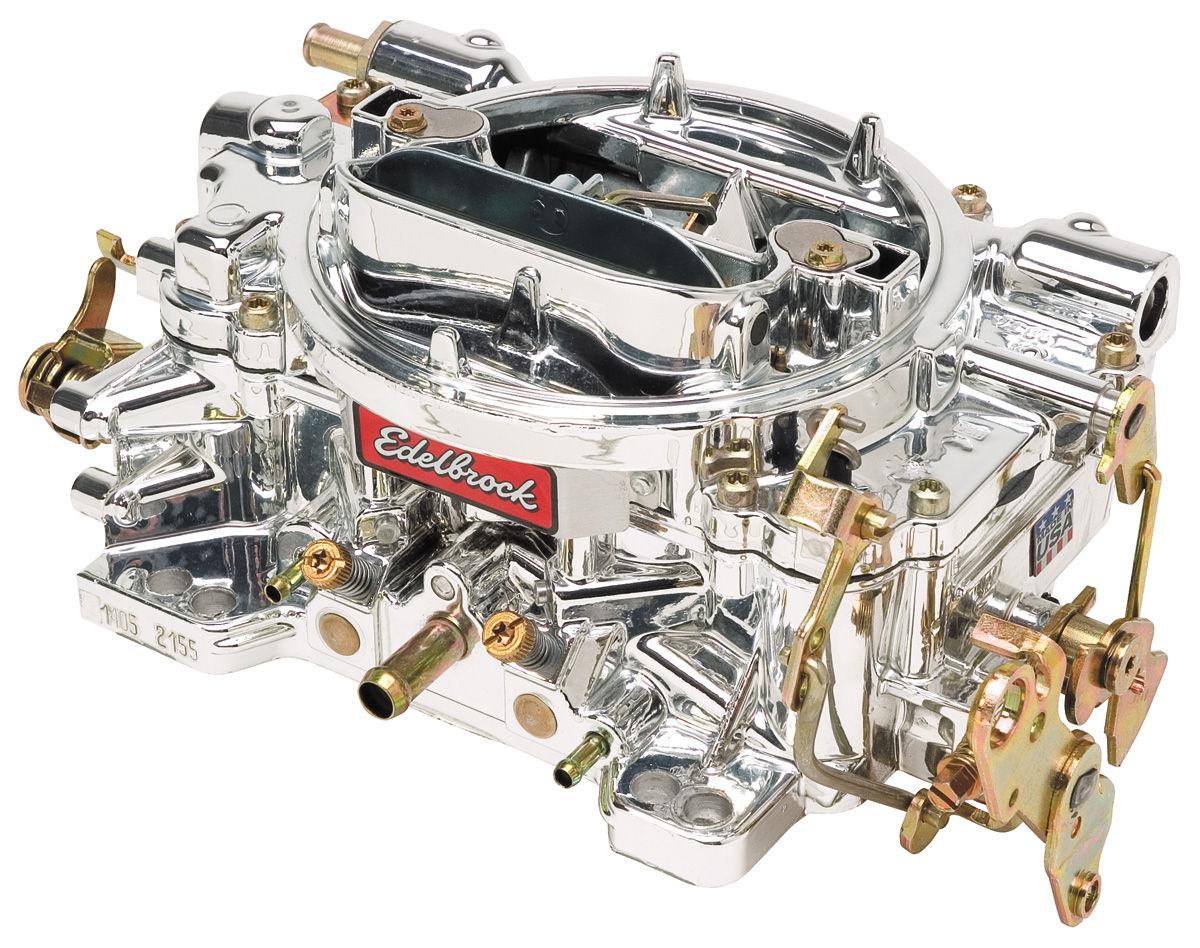 Carburetor, Performer, Edelbrock, W/ Endurashine Finish, Manual Choke