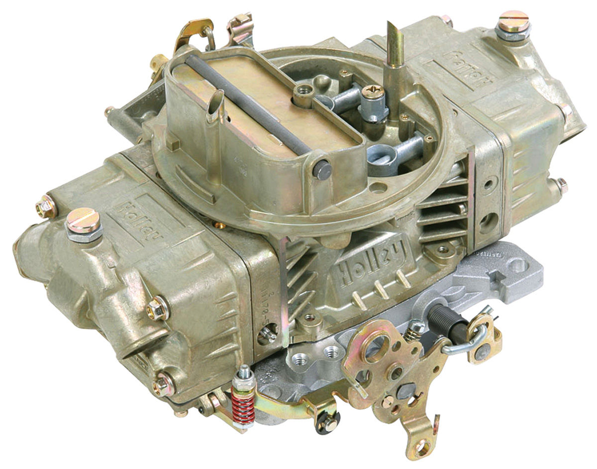 Carburetor, Holley, Mechanical Secondary/Manual Choke, 650 CFM, Gold Finish