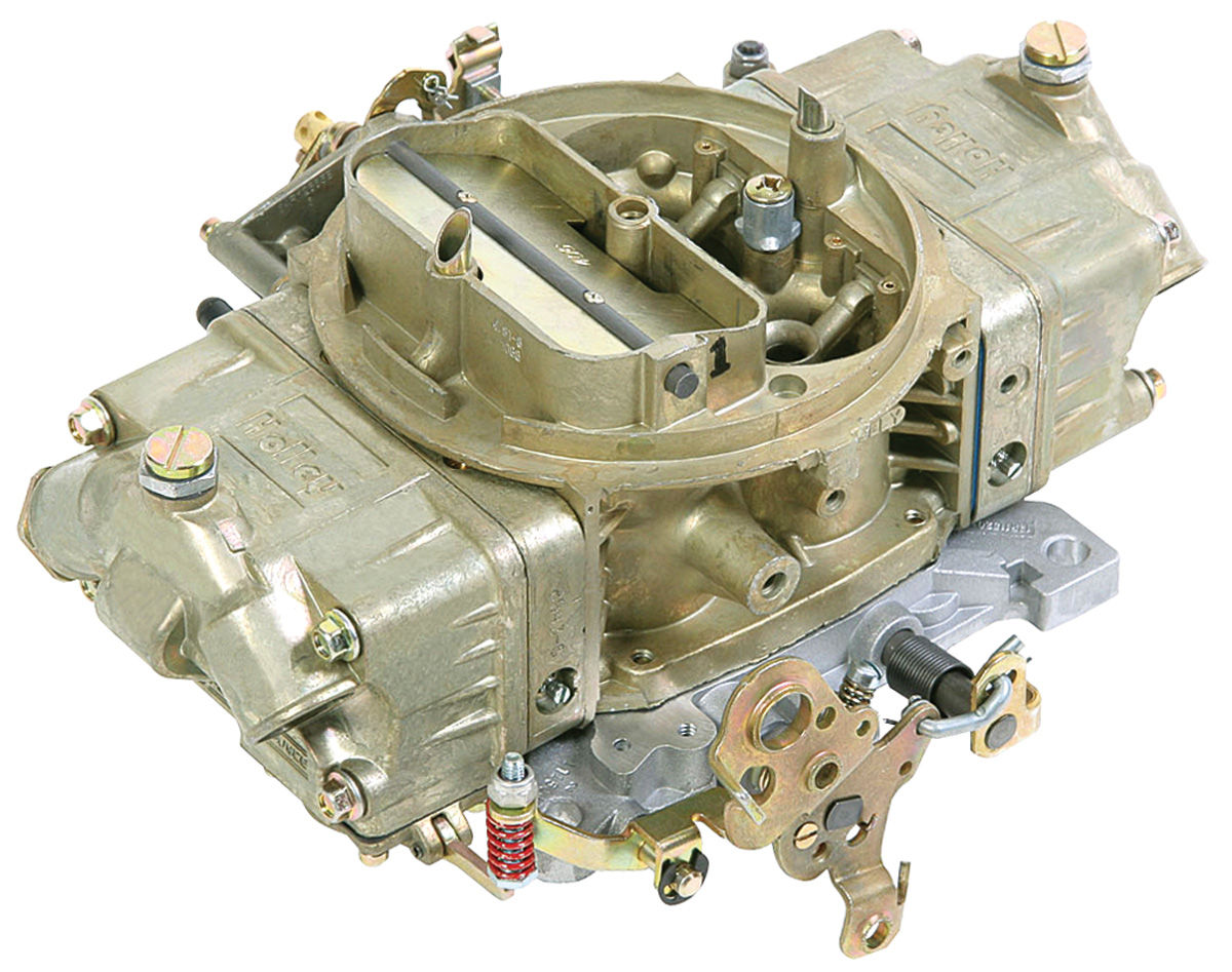 Carburetor, Holley, Mechanical Secondary/Manual Choke, 850 CFM, Gold Finish