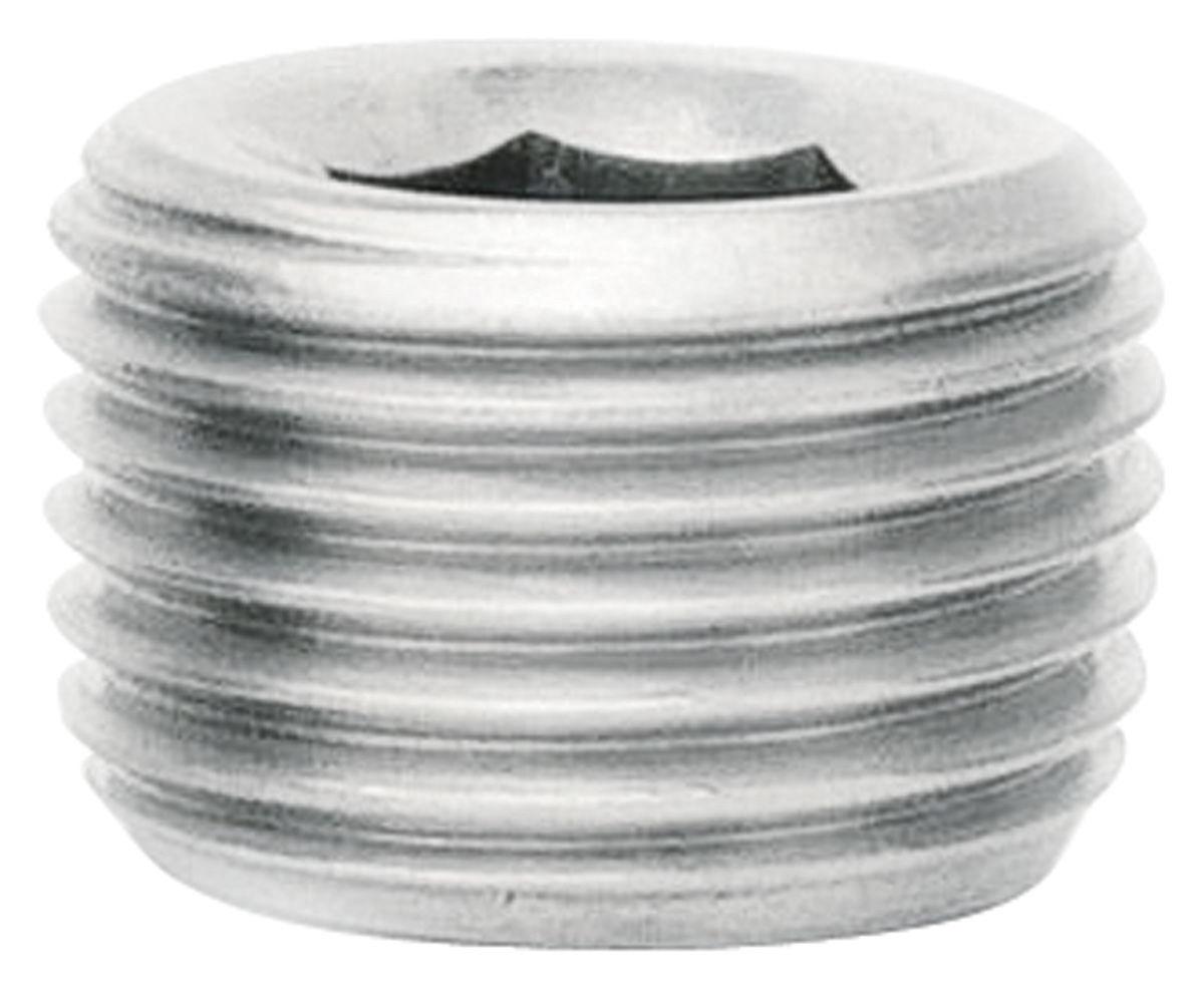 "Pipe Plug, 1/4"" Allen Head, 1/4"" NPT, Stainless Steel"