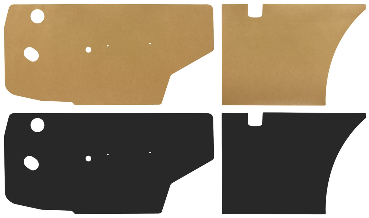 Water Shields, 1965-68 Bonneville/Catalina/Grand Prix 2dr Hardtop, Front/Rear