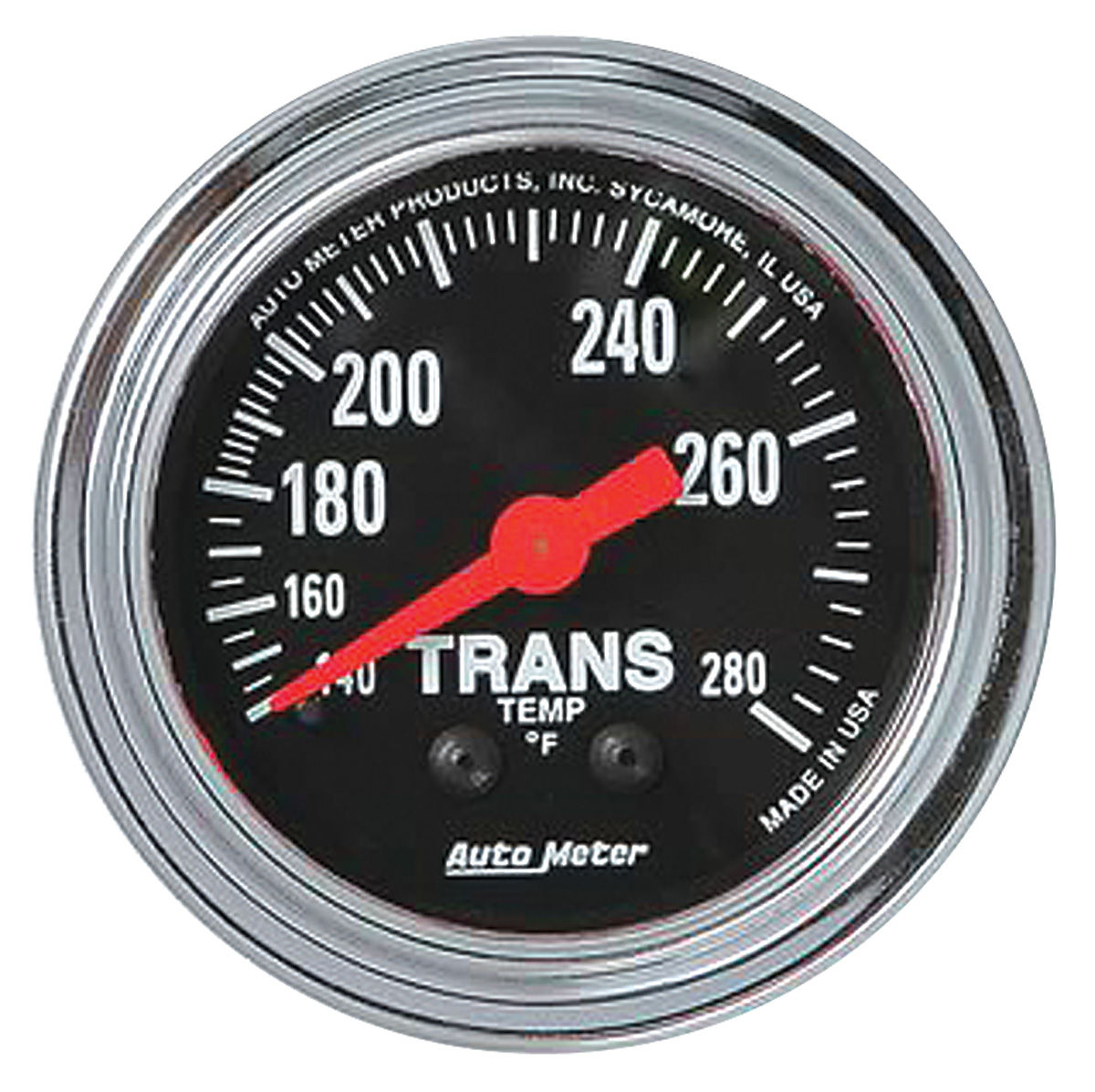 Gauge, Trans Temp, Auto Meter, Traditional Chrome, 2-1/16