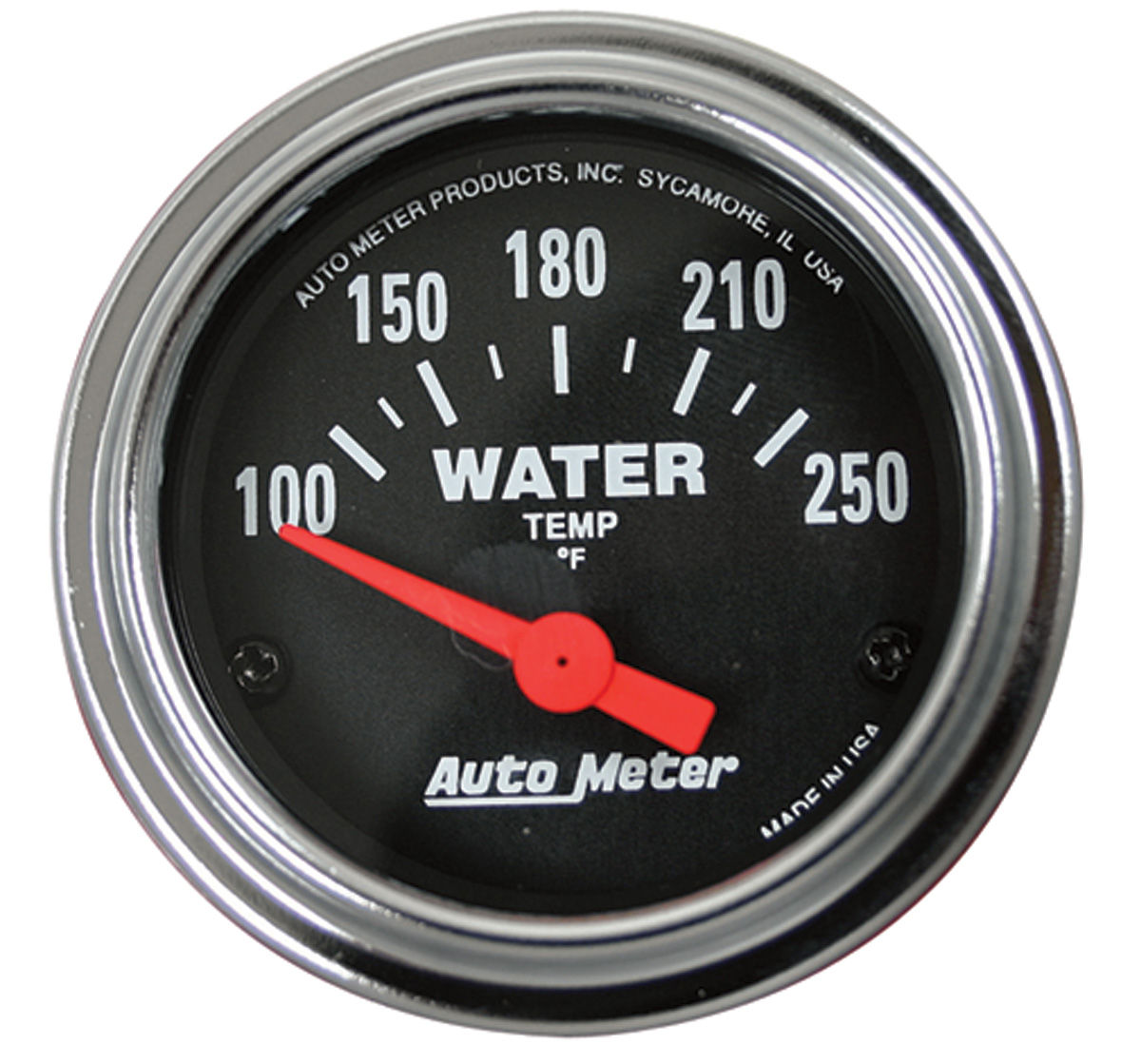 Gauge, Water Temperature, Auto Meter, Traditional Chrome, 2-1/16