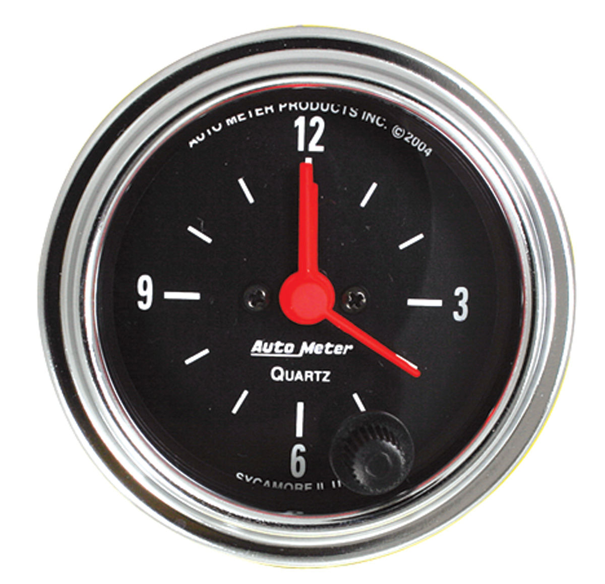 Gauge, Clock, Auto Meter, Traditional Chrome, 2-1/16