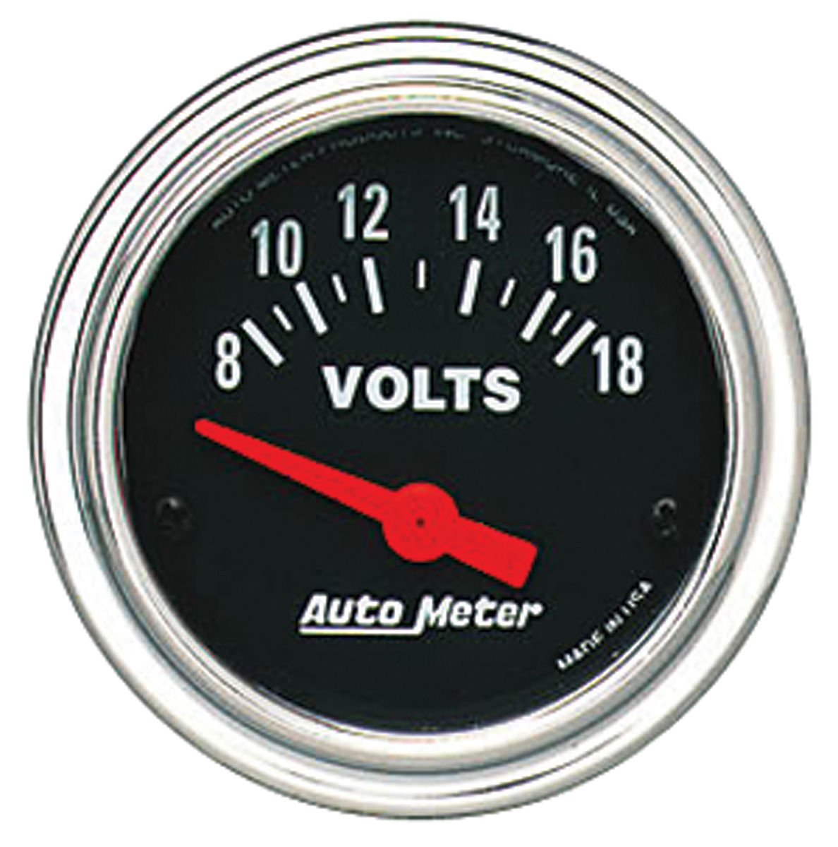 Gauge, Voltmeter, Auto Meter, Traditional Chrome, 2-1/16