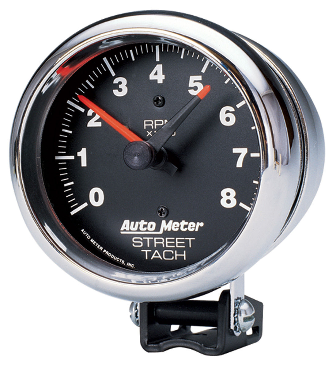 Gauge, Tachometer, Auto Meter, Traditional Chrome, 3-3/4
