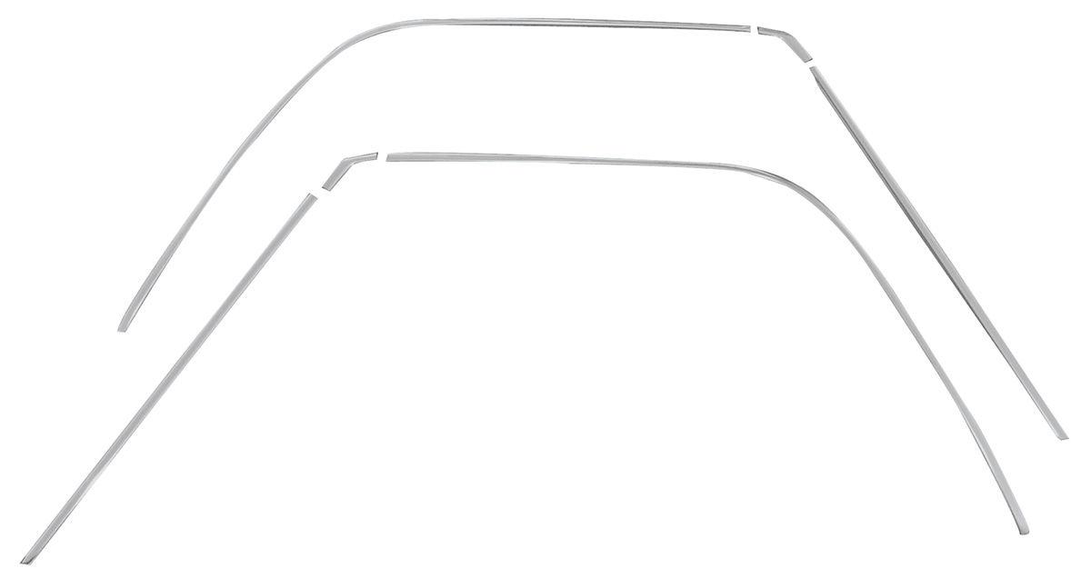 Roof Drip Molding, Complete Kit, 68-72 El Camino
