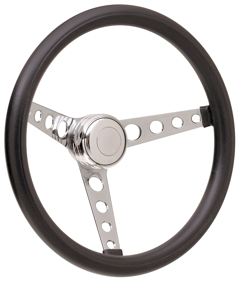 Steering Wheel Kit, 69-89 GM, Classic Foam, Tall Cap, Plain, Polished