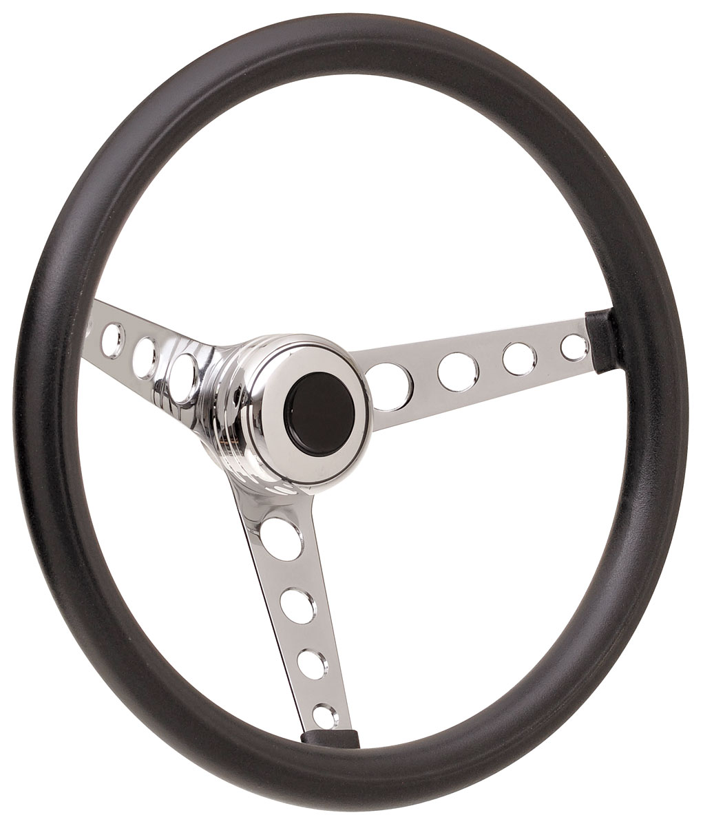 Steering Wheel Kit, 59-68 GM, Classic Foam, Tall Cap, Plain, Black