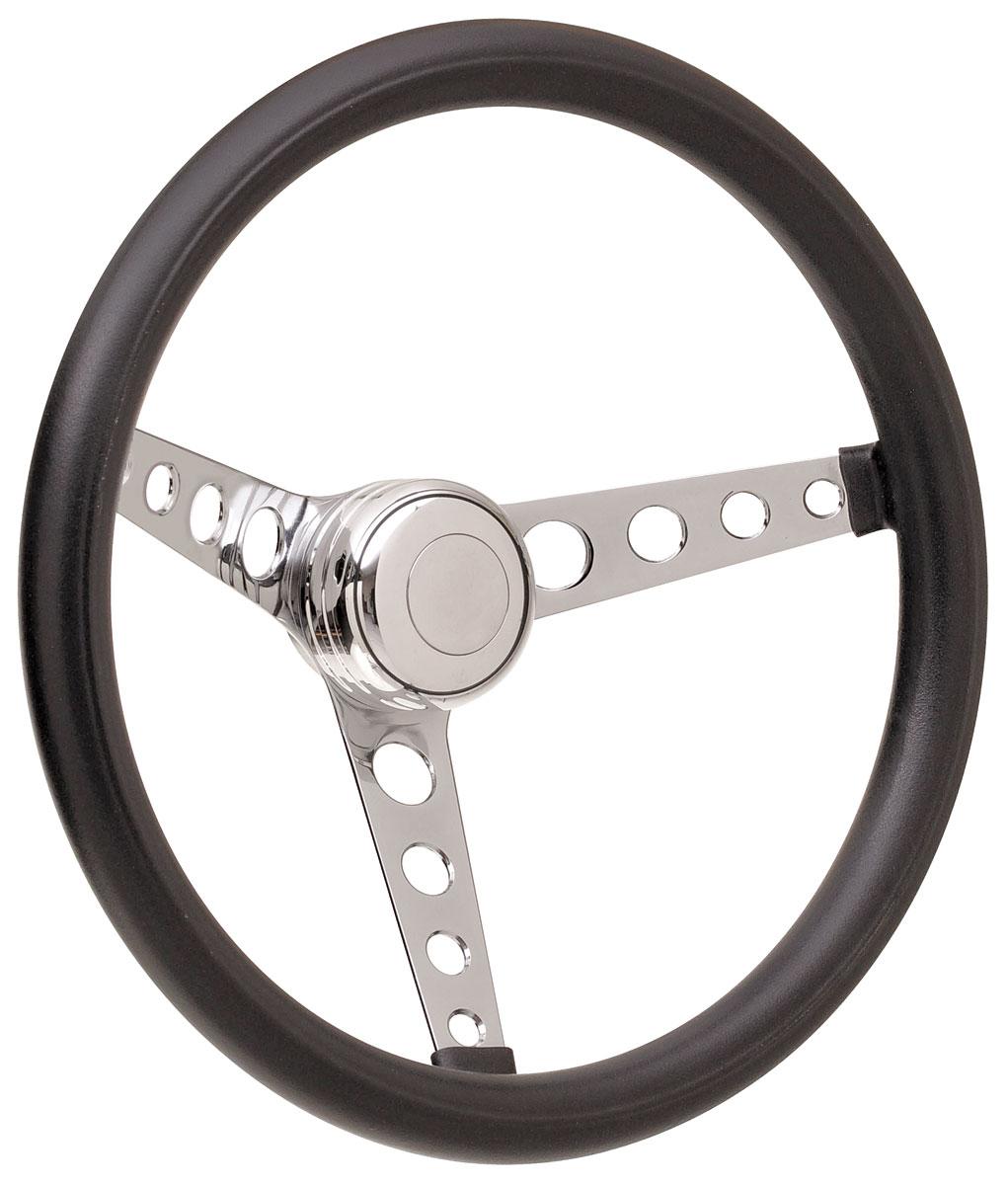 Steering Wheel Kit, 59-68 GM, Classic Foam, Tall Cap, Plain, Polished