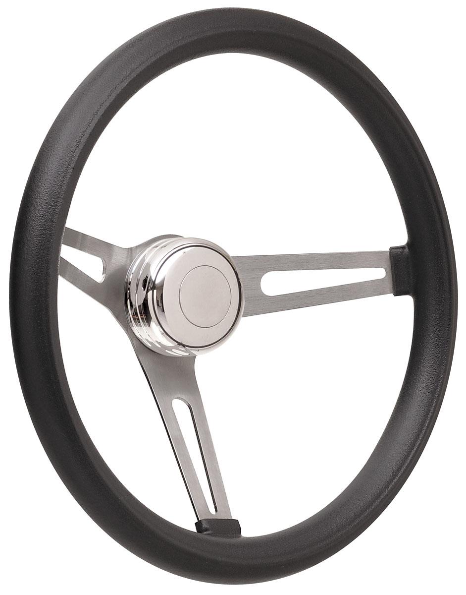 Steering Wheel Kit, 69-89 GM, Retro Foam, Tall Cap, Plain, Polished
