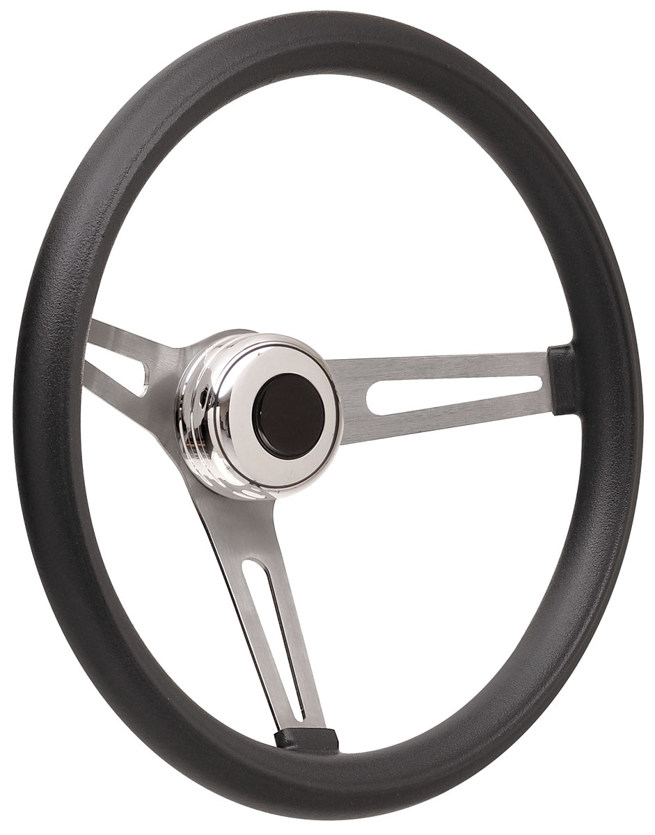 Steering Wheel Kit, 69-89 GM, Retro Foam, Tall Cap, Plain, Black