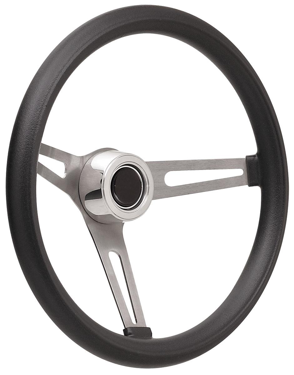 Steering Wheel Kit, 69-89 GM, Retro Foam, Hi Rise Cap, Plain, Black