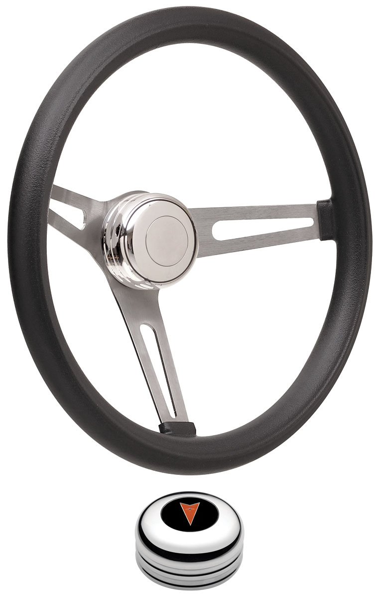 Steering Wheel Kit, 59-68 Pontiac, Retro Foam, Tall Cap, Arrowhead, Polished