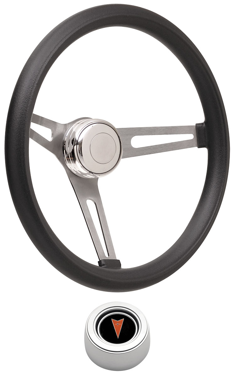 Steering Wheel Kit, 59-68 Pontiac, Retro Foam, Hi Rise Cap, Arrowhead, Polished