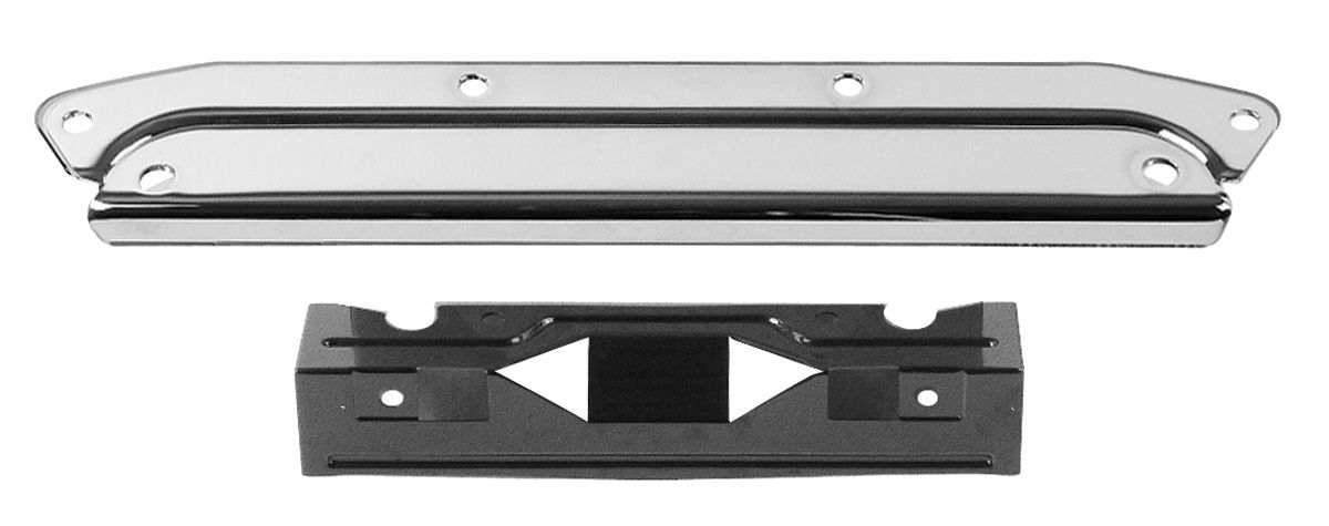 Bracket Set, Rear License Plate, 1964-65 Chevelle, Chrome