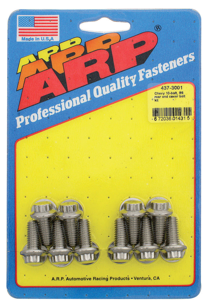 Bolts, Rear End Cover, ARP, 10-Bolt, Stainless