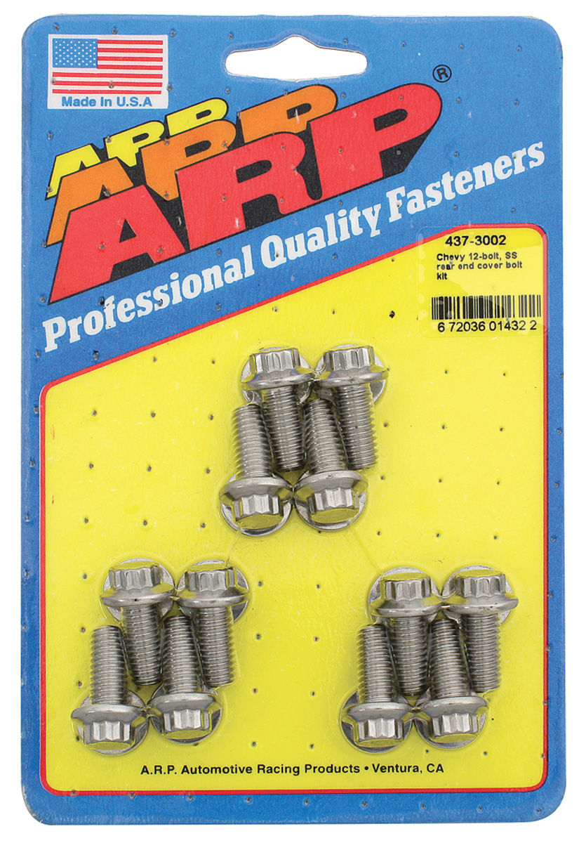 Bolts, Rear End Cover, ARP, 12-Bolt, Stainless