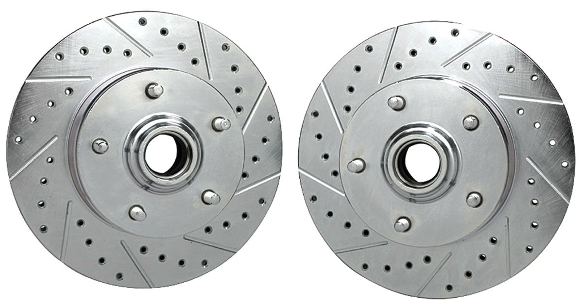 Rotors, Front, Drilled, 1969-72 A-Body