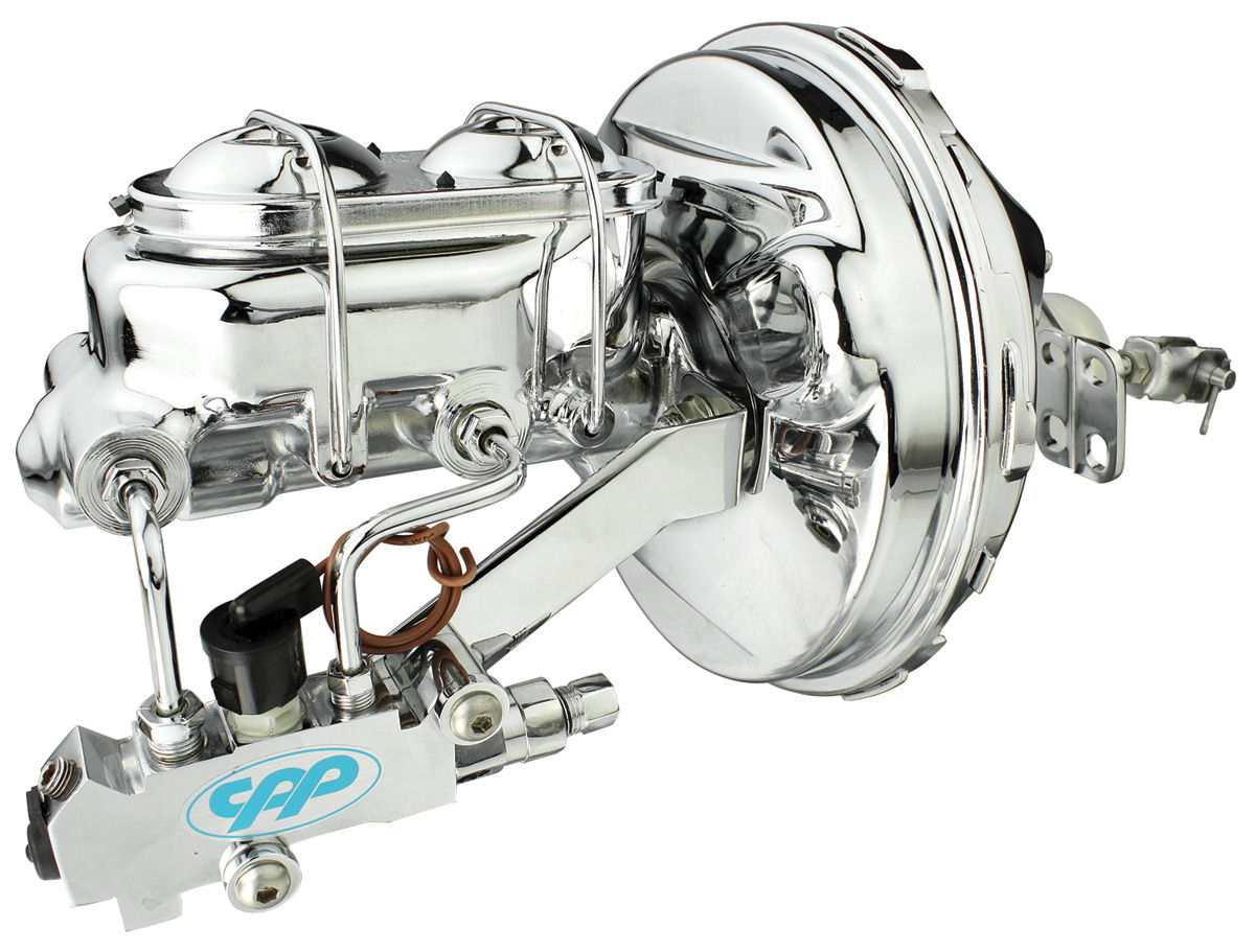 Master Cylinder and Brake Booster, Full Show, 1964-66 A-Body, Chrome