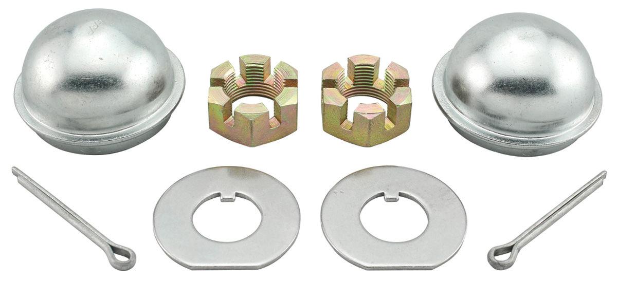 Nut/Cap Kit, Spindle, 1964-77 GM