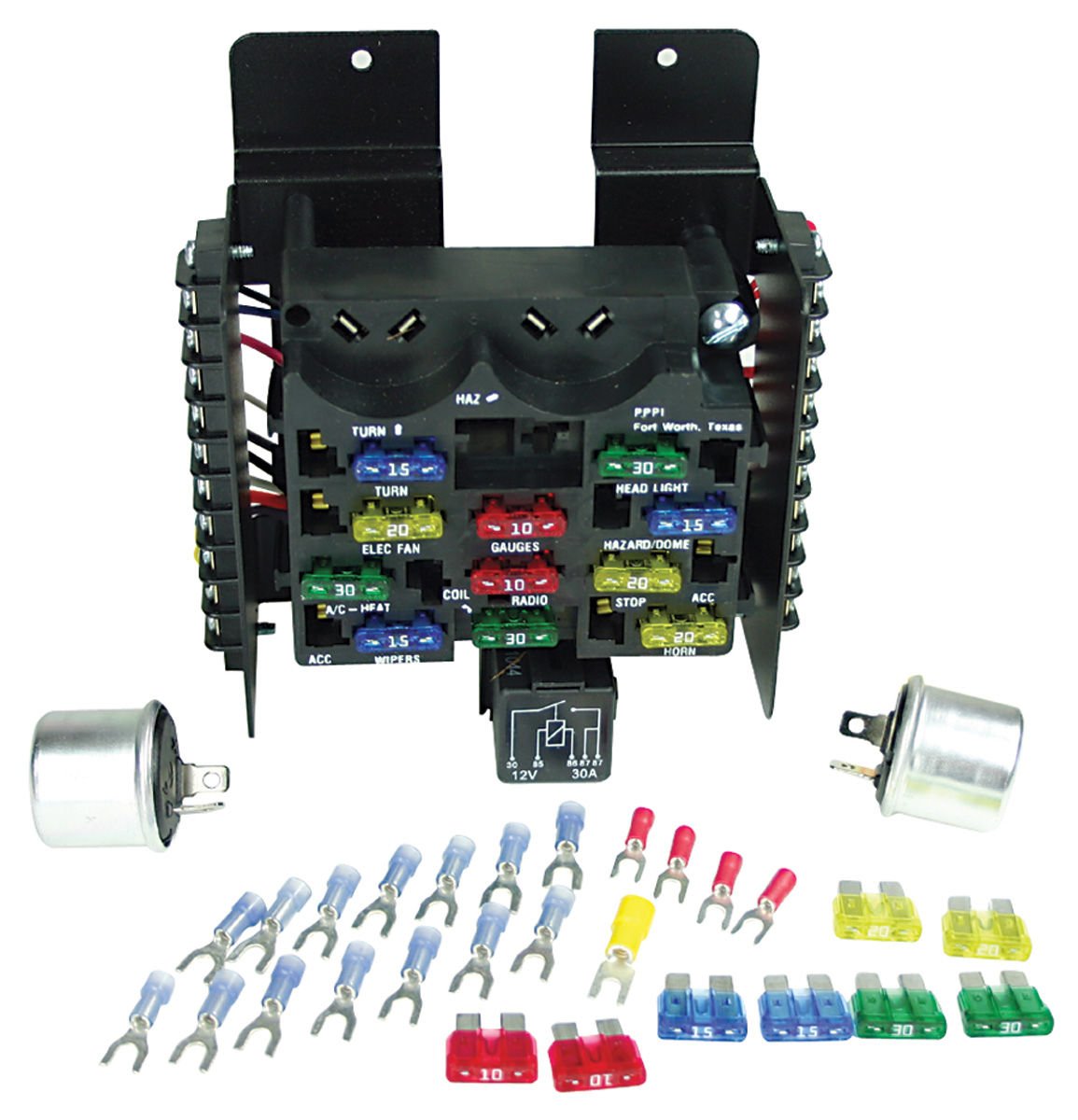 [SODI_2457]   Fuse Block, Painless Performance, 14-Circuit @ OPGI.com | 1966 Cadillac Fuse Box |  | OPGI.com
