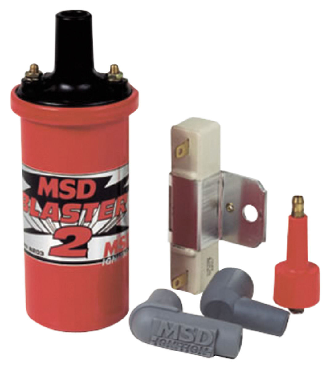 Kit, Coil W/ Ballast and Hardware, MSD, Blaster 2, Red