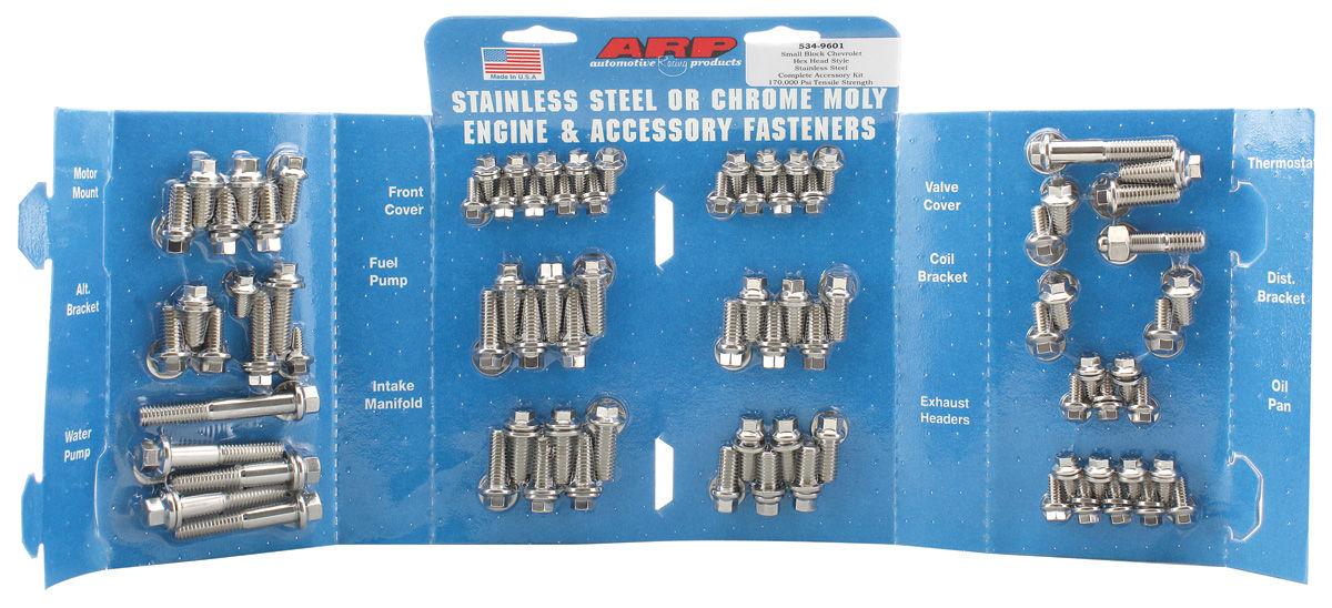 Bolt Kit, ARP, SB Engine, Stainless, 6 PT