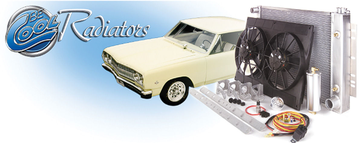 Cooling Module Assembly, Be Cool, 1968-77 A-Body/Pontiac, AT, Natural