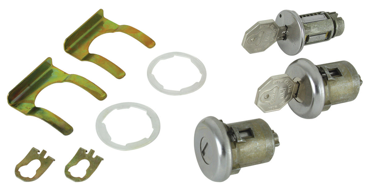 Lock Set, Ignition/Doors, 1964-65 GM