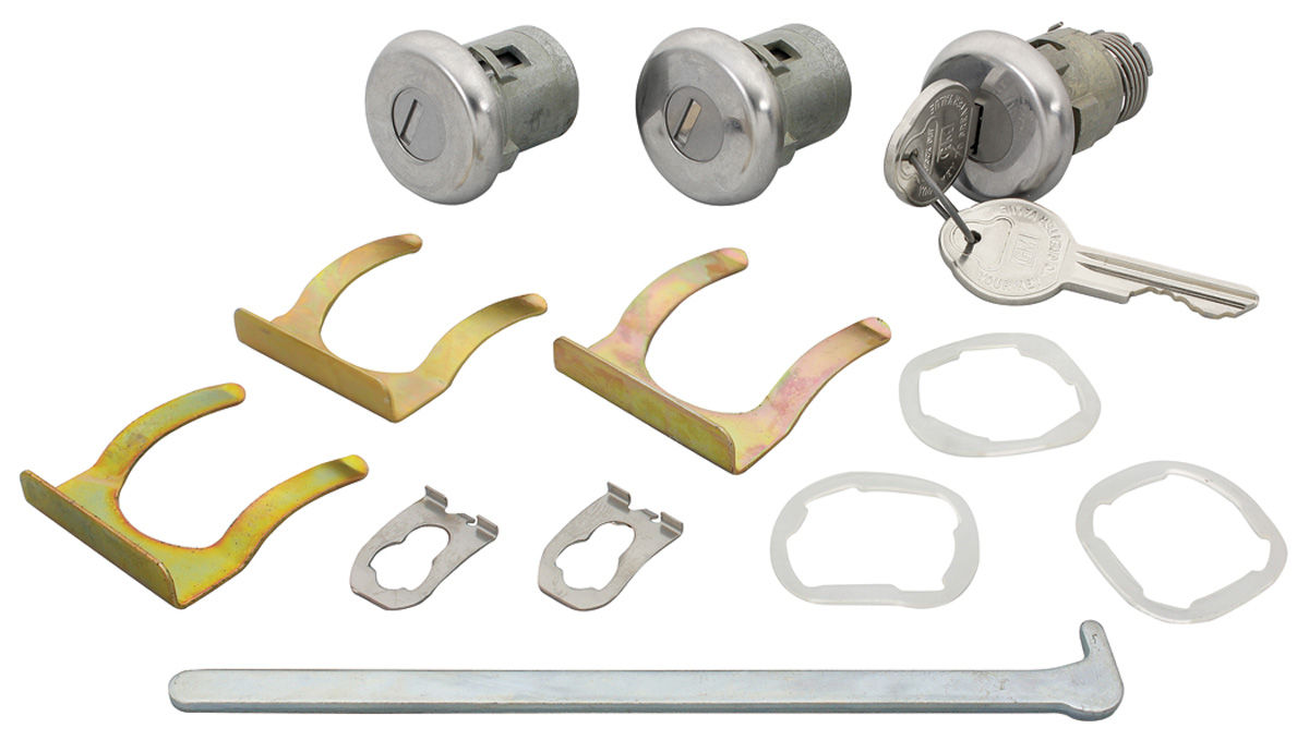 Lock Set, Doors/Trunk, 1963-68 GM, Early Style