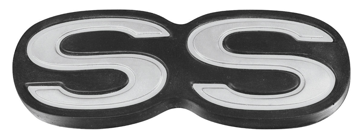 Emblem, Bumper, SS, 1971-72 Chevelle