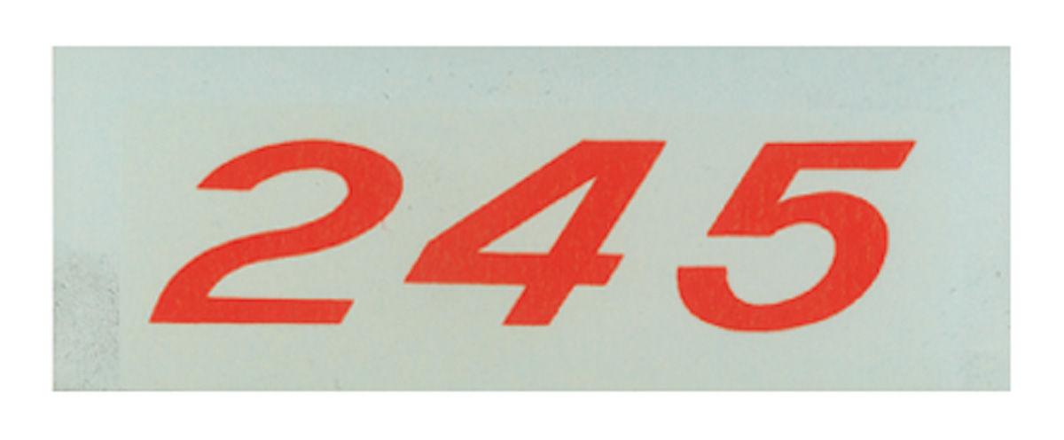 Decal, Chevelle/El Camino/Monte Carlo, Valve Cover, 245HP, Orange