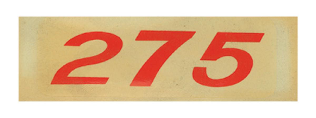 Decal, Chevelle/El Camino/Monte Carlo, Valve Cover, 275HP, Orange