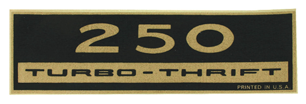 Decal, Chevelle/El Camino, Valve Cover, 250, Turbo-Thrift