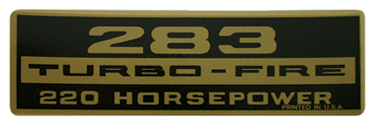 Decal, Chevelle/El Camino, Valve Cover, 283 220HP, Turbo-Fire