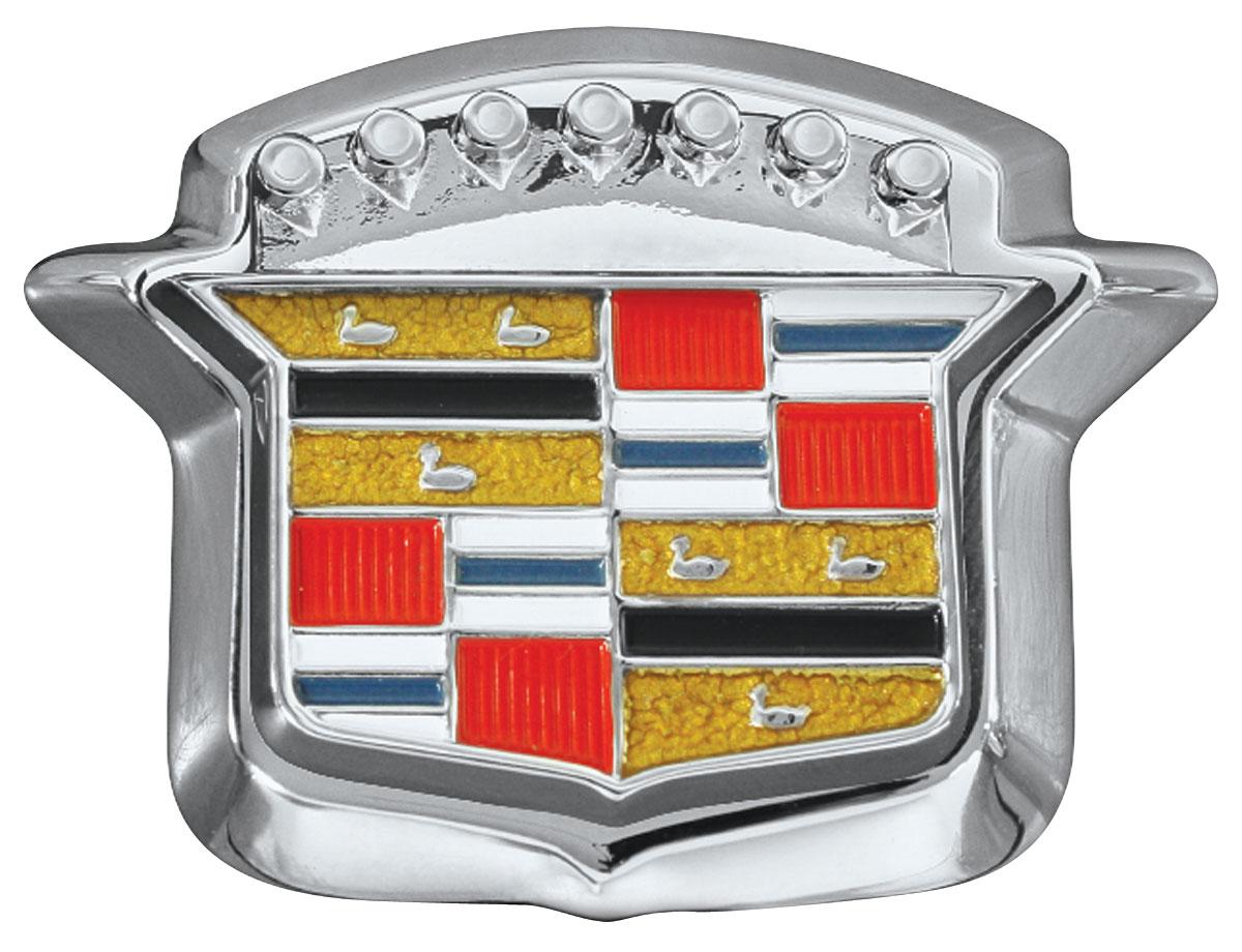 Emblem, Trunk Lock Crest, Complete, 1964-68 Cadillac