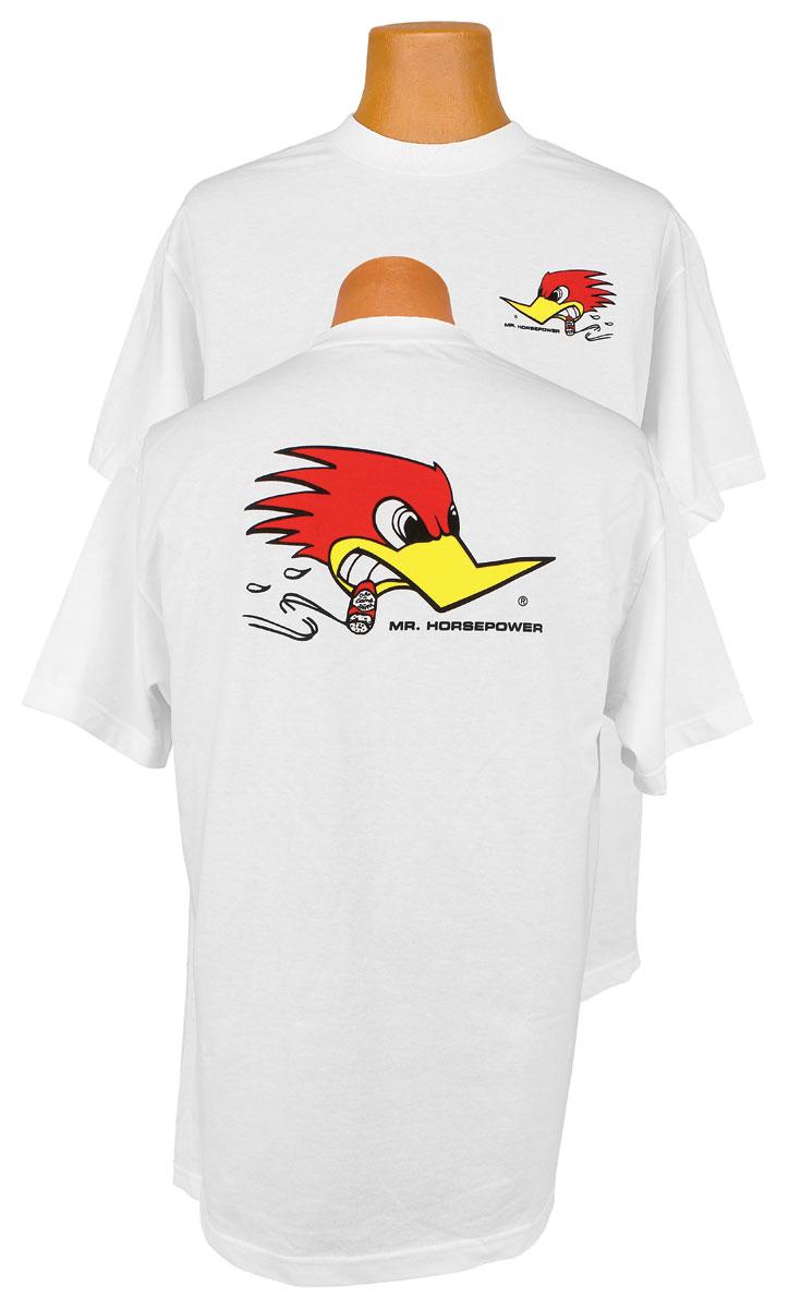 Shirt, Clay Smith, Mr Horsepower, White
