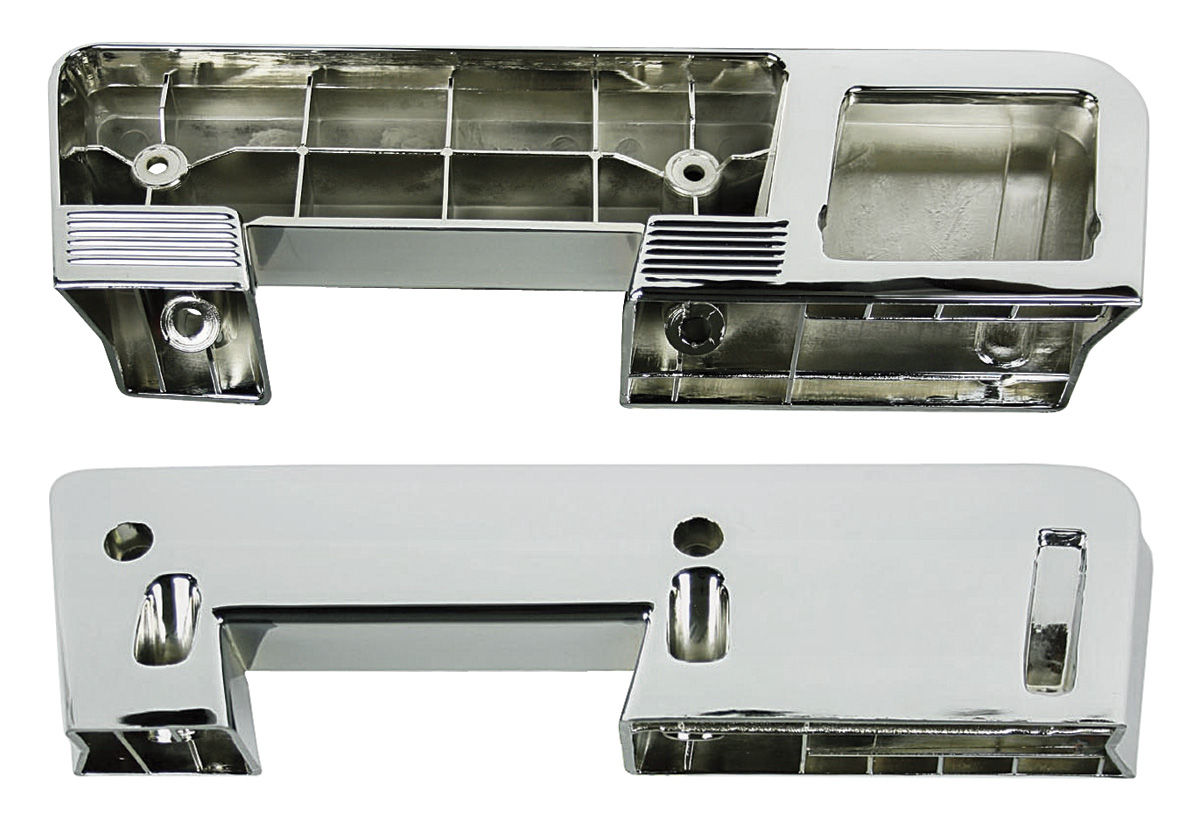 Armrest Base, Rear, 1960-67 GM, Chrome