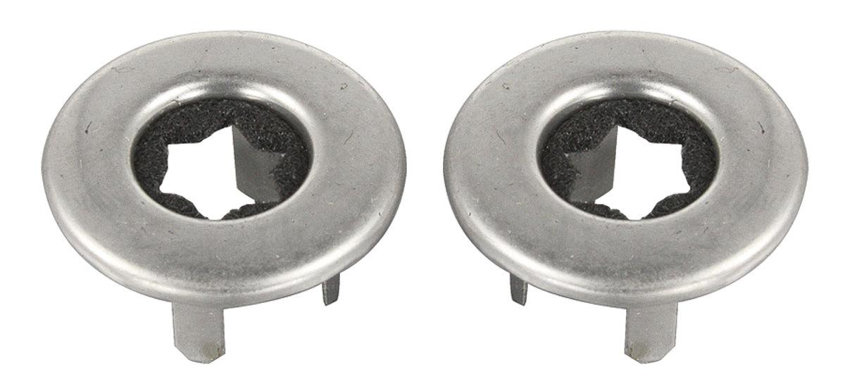 Ferrules, Door Lock Knob, 1968-88 GM, Chrome